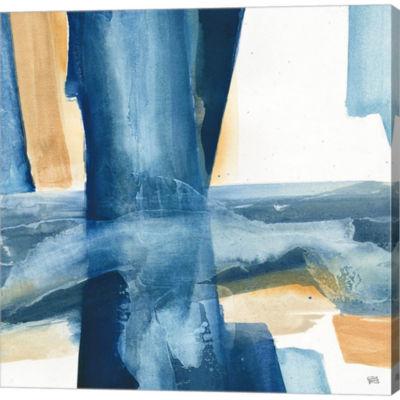 Metaverse Art Indigo V Gallery Wrapped Canvas WallArt