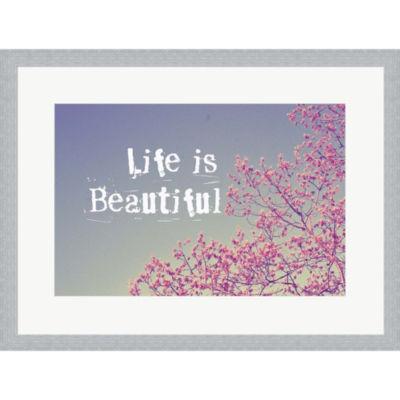 Metaverse Art Life Is Beautiful Framed Print WallArt