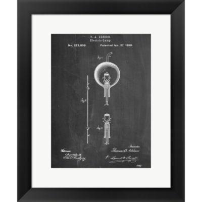 Metaverse Art Light Bulb Edison Framed Print WallArt