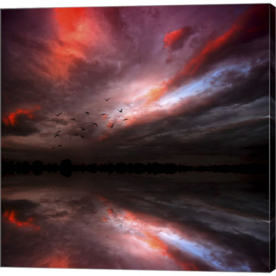 Metaverse Art Instant Karma Gallery Wrapped CanvasWall Art