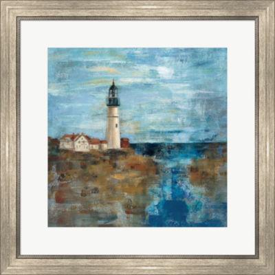 Metaverse Art Lighthouse Dream Framed Print Wall Art