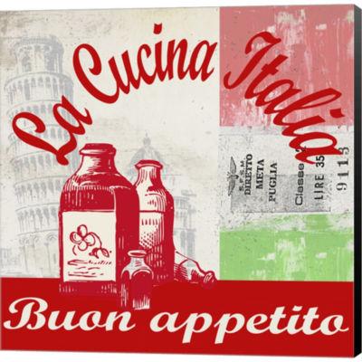 La Cucina Italia Gallery Wrapped Canvas Wall Art On Deep Stretch Bars