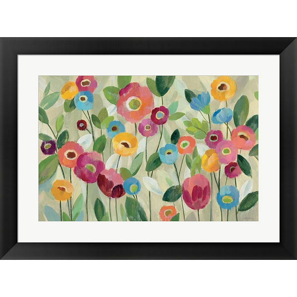 Fairy Tale Flowers V Framed Print Wall Art