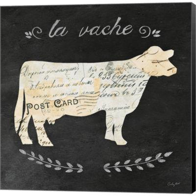 Metaverse Art La Vache Cameo Sq Gallery Wrapped Canvas Wall Art