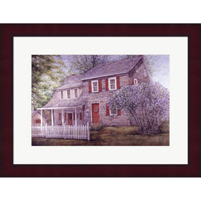 Metaverse Art Lilacs Framed Print Wall Art