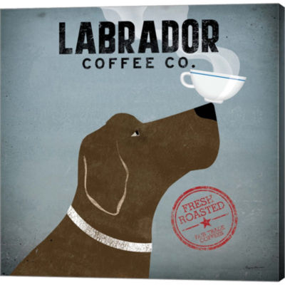 Metaverse Art Labrador Coffee Co. Gallery WrappedCanvas Wall Art