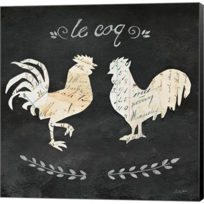 Metaverse Art Le Coq Cameo Sq Gallery Wrapped Canvas Wall Art