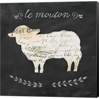 Metaverse Art Le Mouton Cameo Sq Gallery Wrapped Canvas Wall Art