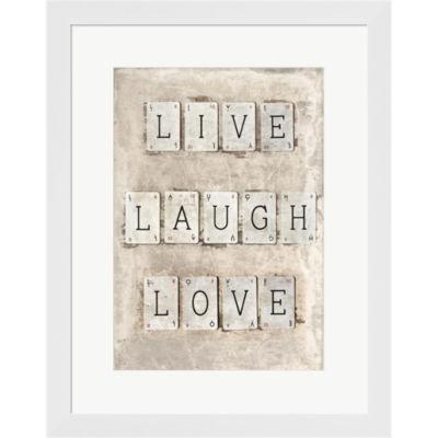 Metaverse Art Live Laugh Love Framed Print Wall Art