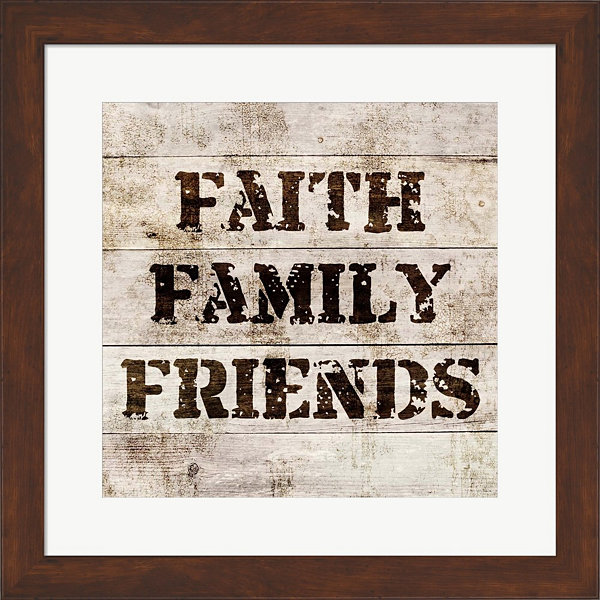 Faith Family Friends In Wood Framed Print Wall Art