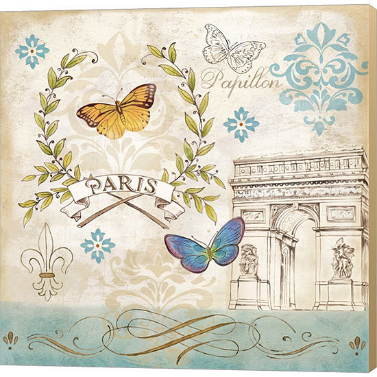 Metaverse Art Le Papillon Paris II Gallery WrappedCanvas Wall Art