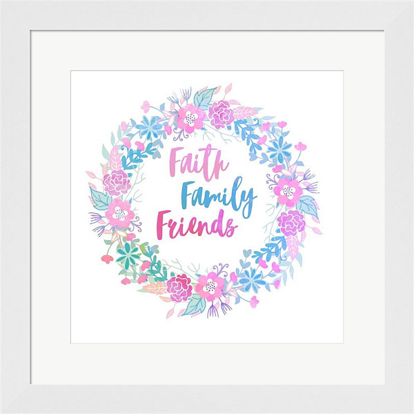 Metaverse Art Faith Family Friends-Pastel Framed Print Wall Art