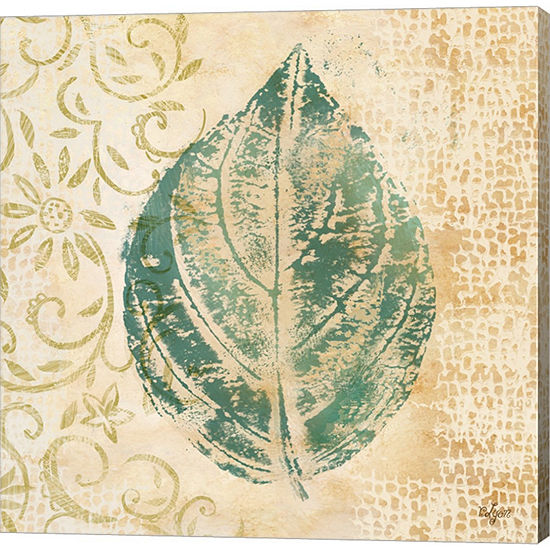 Metaverse Art Leaf Scroll I Gallery Wrapped CanvasWall Art