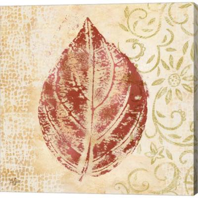 Metaverse Art Leaf Scroll II Gallery Wrapped Canvas Wall Art