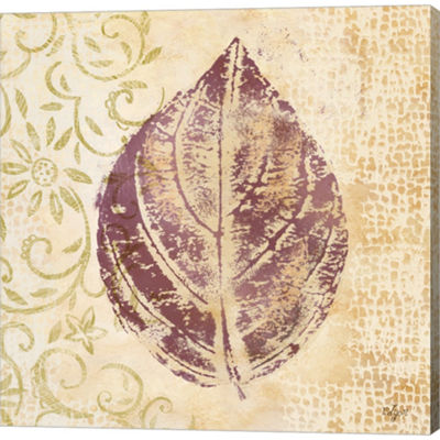 Metaverse Art Leaf Scroll III Gallery Wrapped Canvas Wall Art