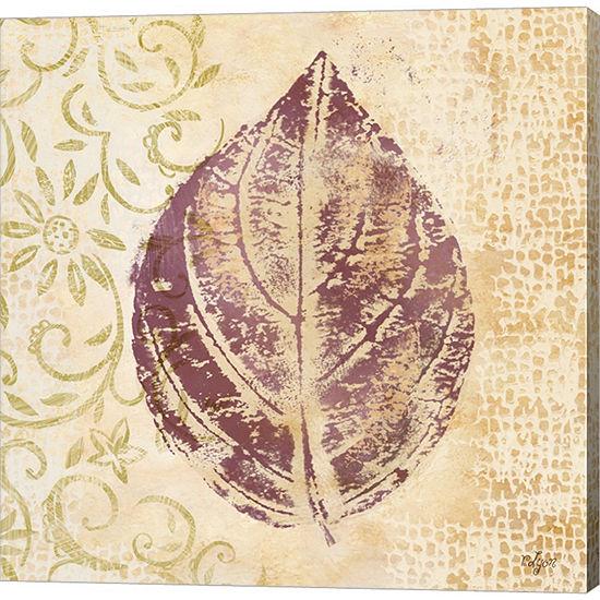 Metaverse Art Leaf Scroll III Gallery Wrapped Canvas Wall Art