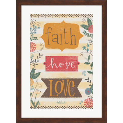Faith Hope Love Framed Print Wall Art