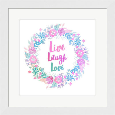Metaverse Art Live Laugh Love Framed Print Wall Art