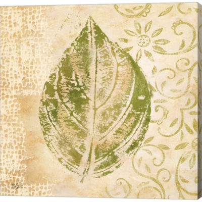 Metaverse Art Leaf Scroll IV Gallery Wrapped Canvas Wall Art