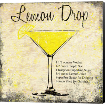 Metaverse Art Lemon Drop Gallery Wrapped Canvas Wall Art