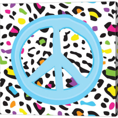 Metaverse Art Leopard Peace 1 Gallery Wrapped Canvas Wall Art