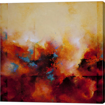 Metaverse Art Light Strides Gallery Wrapped CanvasWall Art
