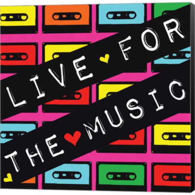 Metaverse Art Live For The Music Gallery Wrapped Canvas Wall Art