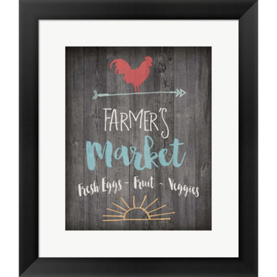 Metaverse Art Farmer's Market Framed Print Wall Art