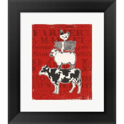 Metaverse Art Farmers Market VI Framed Print WallArt