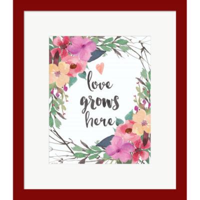 Metaverse Art Love Grows Here Framed Print Wall Art