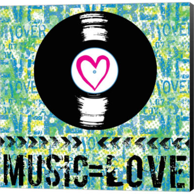 Metaverse Art Love - Music 2 Gallery Wrapped Canvas Wall Art