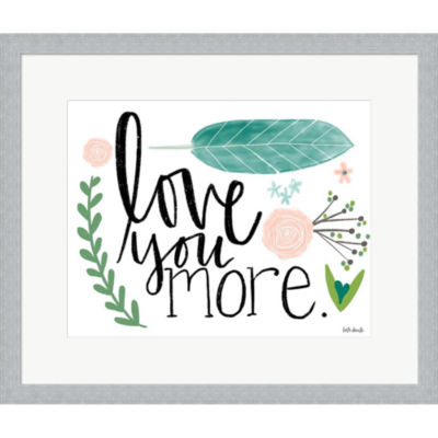 Metaverse Art Love You More Framed Print Wall Art