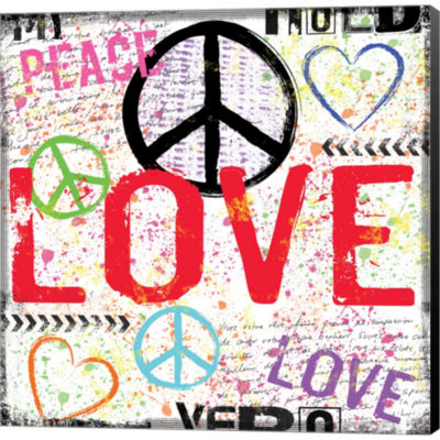 Metaverse Art Love And Peace 1 Gallery Wrapped Canvas Wall Art