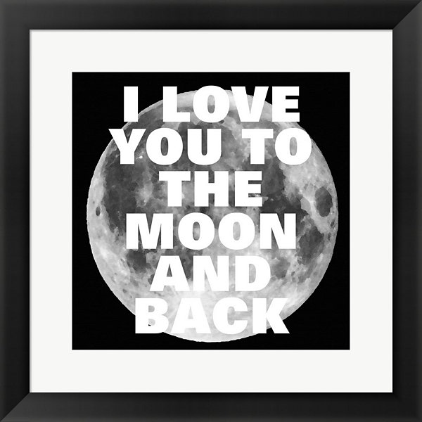 Metaverse Art Love You To The Moon And Back FramedPrint Wall Art