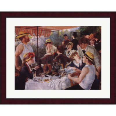 Metaverse Art Luncheon Of The Boating Party C.1881Framed Print Wall Art