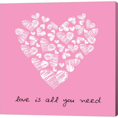 Metaverse Art Love Is All You Need Gallery WrappedCanvas Wall Art