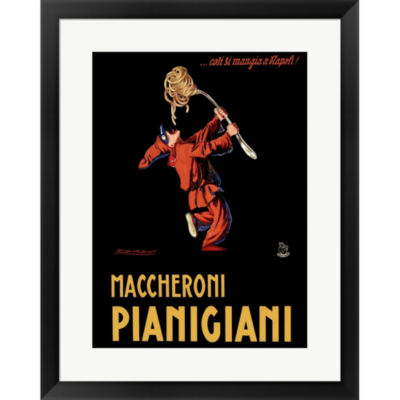 Metaverse Art Maccheroni Pianigiani 1922 Framed Print Wall Art
