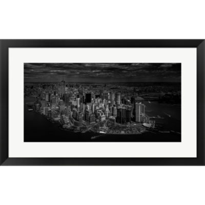Metaverse Art Manhattan - Bird's Eye View Framed Print Wall Art