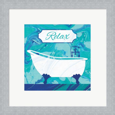 Metaverse Art Marbled Bath I Framed Print Wall Art