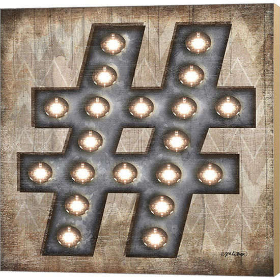 Metaverse Art Marquee Symbols I Gallery Wrapped Canvas Wall Art