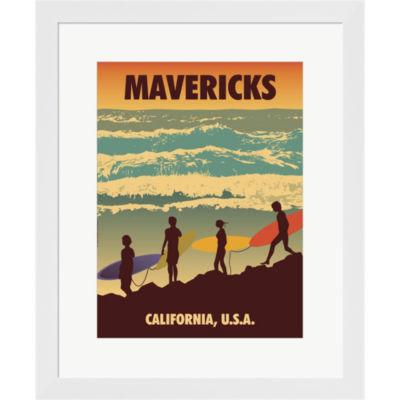 Mavericks Framed Print Wall Art