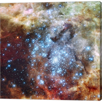 Merging Clusters In 30 Doradus Non-Annotated Gallery Wrapped Canvas Wall Art On Deep Stretch Bars