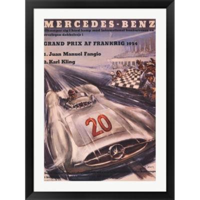 Metaverse Art Mercedes Benz 1954 Grand Prix FramedPrint Wall Art