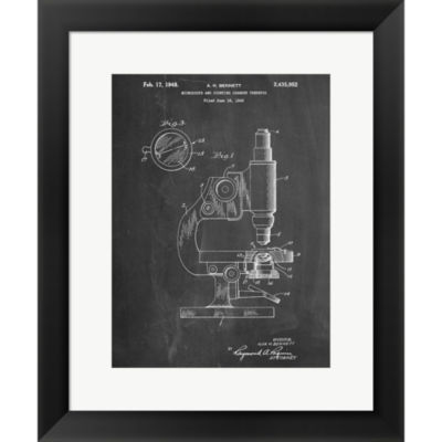 Metaverse Art Microscope Framed Print Wall Art