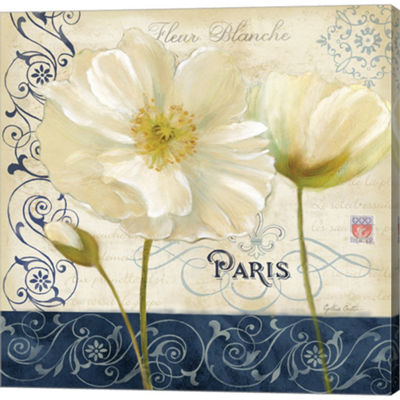 Metaverse Art Paris Poppies I Gallery Wrapped Canvas Wall Art