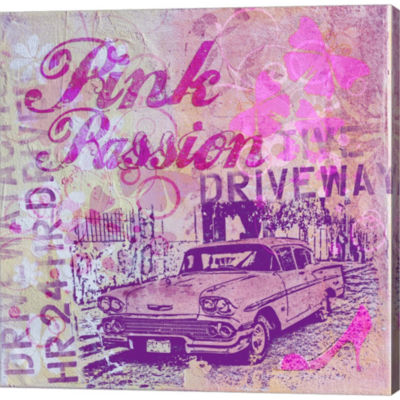 Metaverse Art Pink Passion Gallery Wrapped CanvasWall Art