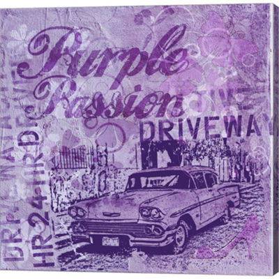 Metaverse Art Puple Passion Gallery Wrapped CanvasWall Art