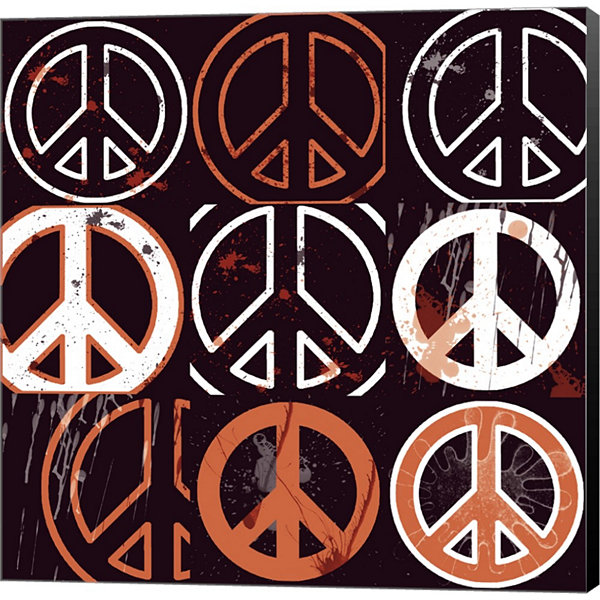 Metaverse Art Peace Mantra by Erin Clark Gallery Wrapped Canvas Wall Art