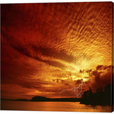 Red Storm Gallery Wrapped Canvas Wall Art On DeepStretch Bars