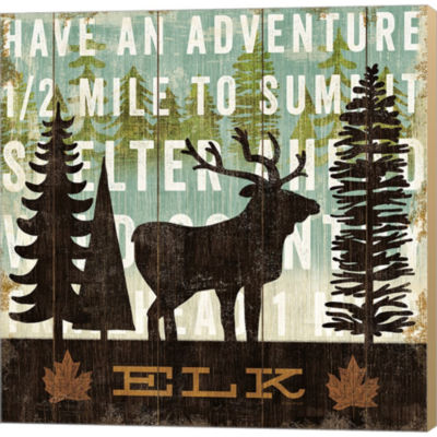 Metaverse Art Simple Living Elk Gallery Wrapped Canvas Wall Art